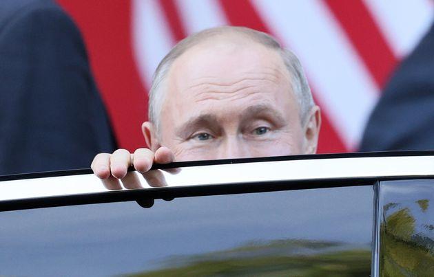 GENEVA, SWITZERLAND - JUNE 16, 2021: Russia's President Vladimir Putin leaves after a meeting with Switzerland's...