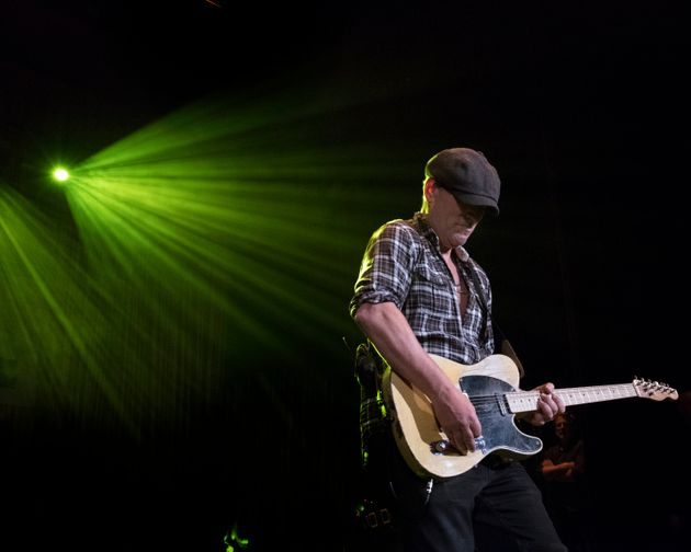 ASBURY PARK, NJ - JANUARY 18: Bruce Springsteen makes a surprise appearance during Bob's Birthday Bash...