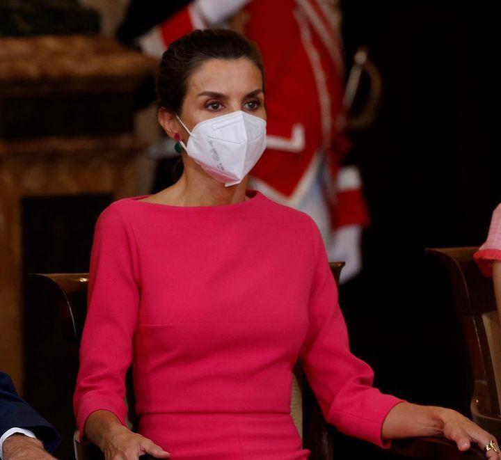 La reina, este viernes en el Palacio Real.