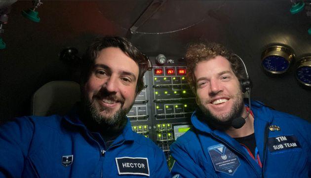 Héctor Salvador y su compañero Tim