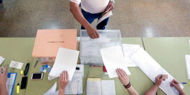 Una urna electoral, en una foto de