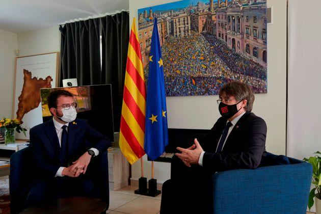 Aragonès viaja a Waterloo para reunirse con el expresident Carles