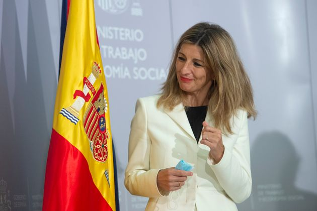 La vicepresidenta tercera y ministra de Trabajo, Yolanda