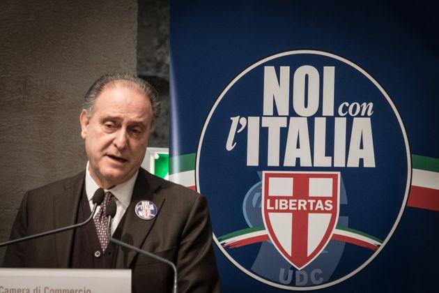 """Lorenzo Cesa during The """"Noi con l' Italia-Udc"""" list closes his election campaign in Rome,..."""