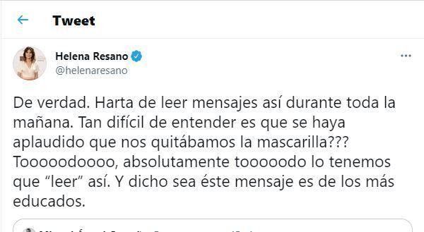 El tuit de Helena