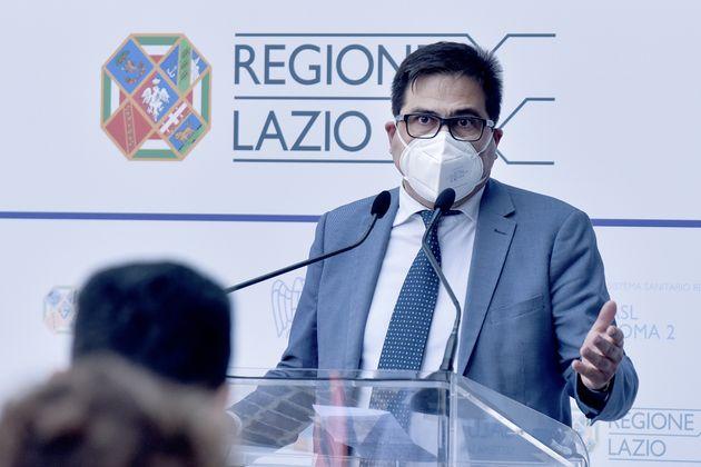 ROME, ITALY - JUNE 01: Councillor for Health of the Lazio Region Alessio D'Amato attends a press conference...