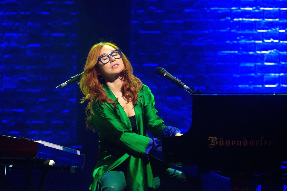 Tori Amos performing in