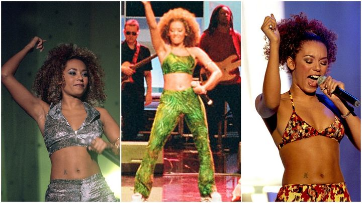 Mel B, performing in the 90s.