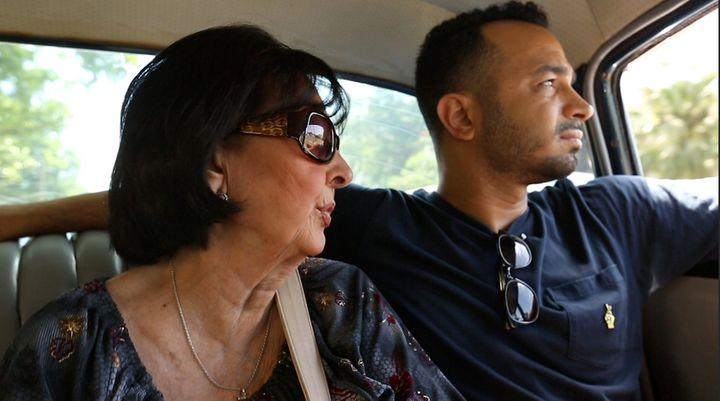 Actor and filmmaker Andy Señor Jr. (right) with his mother, Gloria, in Cuba in 2014.