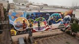 """The """"Absolute Equality"""" mural in Galveston was painted by Houston-based artist Reginald C. Adams and five artists called the """"Creatives"""": Samson Bimbo Adenugba, KaDavien Baylor, Dantrel Boone, Joshua Bennett and Cherry Meekins."""