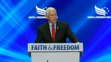 Mike Pence Heckled As A 'Traitor' On Stage At Conservative Summit