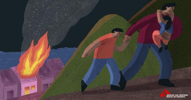 Julián, su familia y su casa quemada en Guerrero, según su relato a