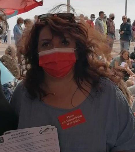 Marie-Chantal Guzman, candidate communiste aux départementales dans les