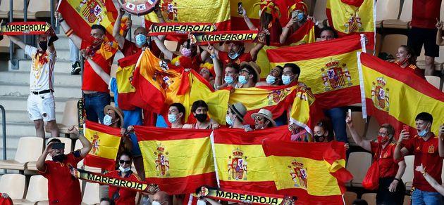 Grada de La Cartuja de Sevilla durante el