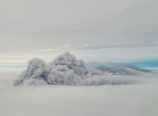 화재가 발생한 경기 이천시 마장면 인근 하늘로 추정되는