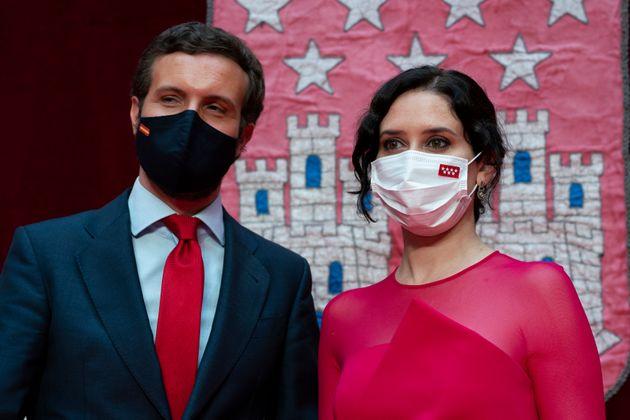 Pablo Casado e Isabel Díaz Ayuso, este sábado en