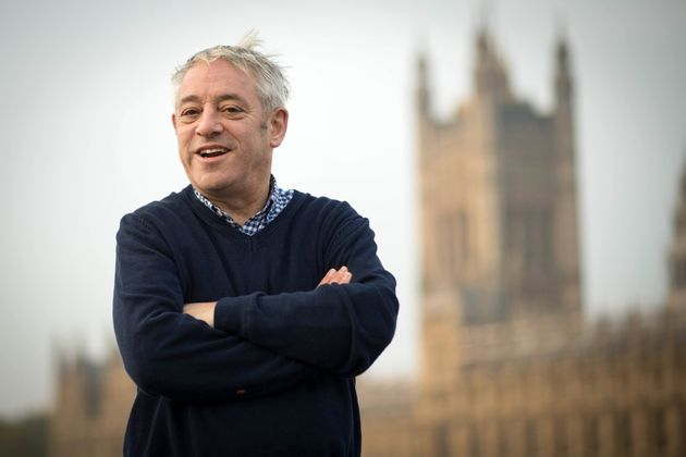 Speaker of the House of Commons, John Bercow walks over Westminster Bridge from a session in the gym...