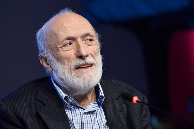 TURIN, ITALY - NOVEMBER 10: Carlo Petrini speaks on stage during Festival della Tecnologia on November...