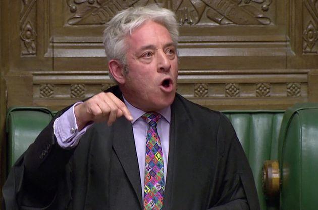L'ex speaker John Bercow à la Chambre des Communes, à Londres, le 21 octobre
