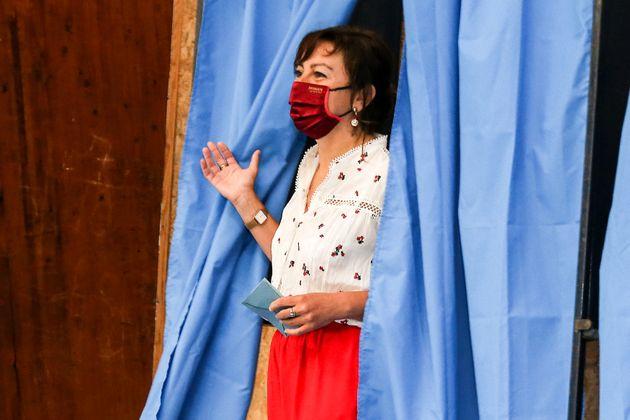 La présidente socialiste de la région Occitanie, Carole Delga, arrivée largement en tête du premier tour...