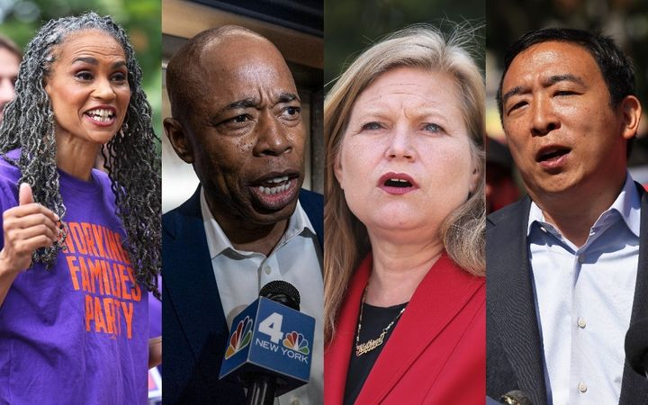The top four contenders for the New York City mayoralty, from left to right: Maya Wiley, Eric Adams, Kathryn Garcia and Andre