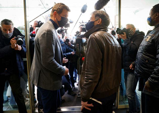 Yannick Jadot et Olivier Faure, ici lors d'une réunion des dirigeants de la gauche au printemps...