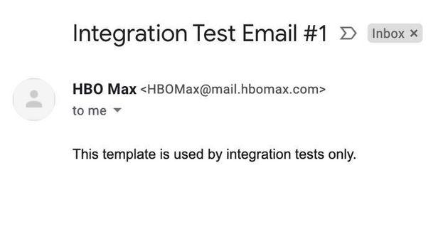 HBOMaxが誤って送ったメール