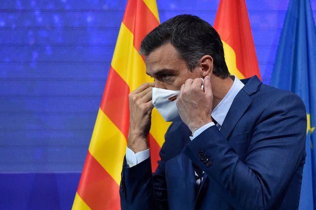 El presidente del Gobierno, Pedro Sánchez, la pasada semana tras su discurso en el Cercle