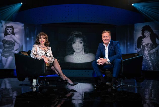 Joan Collins and Piers