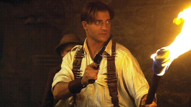 Brendan Fraser, protagonista de 'La momia', en una de las escenas de la