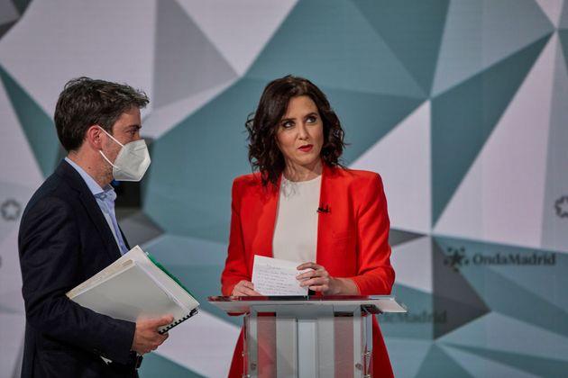 Díaz Ayuso, en el debate electoral de abril en