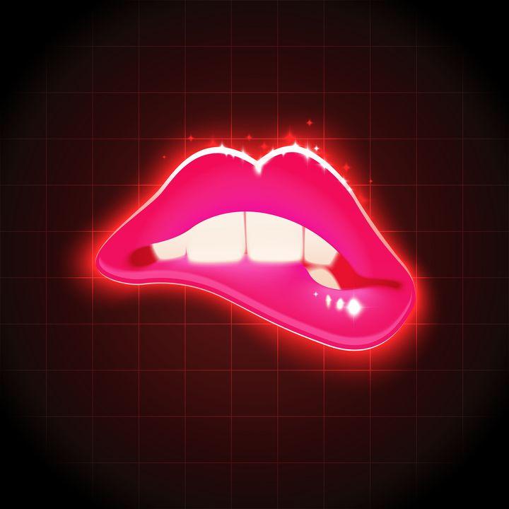 Ilustración de unos labios femeninos.