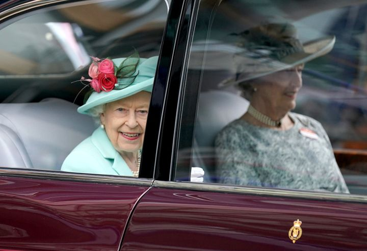 Queen Elizabeth II leaves Royal Ascot at Ascot Racecourse. Picture date: Saturday June 19, 2021. (Photo by Andrew Matthews/PA