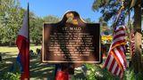 A marker commemorating St. Malo at the Los Isleños Museum Complex in St. Bernard Parish, Louisiana.