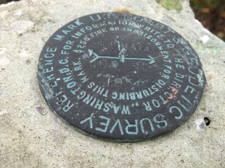 A U.S. Geodetic Survey marker found at St. Malo.