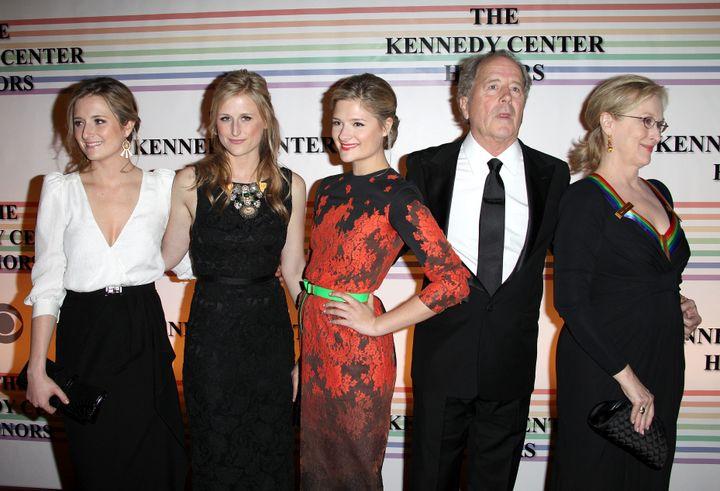 Grace Gummer, Mamie Gummer, Louisa Gummer, Don Gummer and Meryl Streep at the 34th Kennedy Center Honors Presentation at in Washington, D.C., on Dec. 4, 2011.
