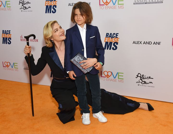Actress Selma Blair and her son, Arthur Saint Bleick, attend the 26th annual Race to Erase MS Gala at the Beverly Hilton hotel on May 10, 2019, in Beverly Hills.
