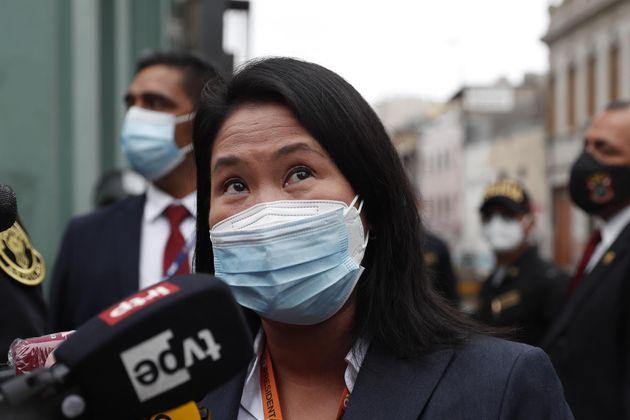 La candidata presidencial peruana Keiko