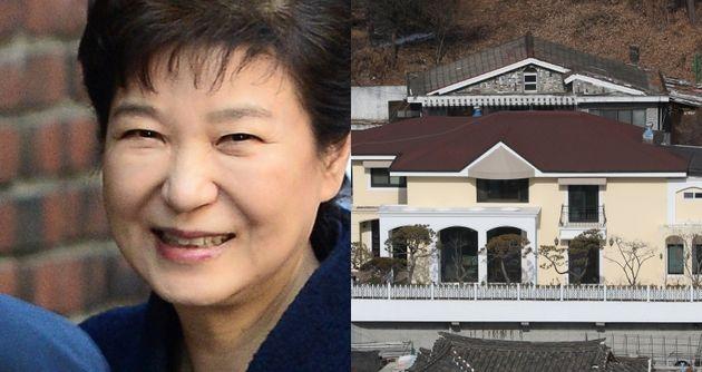 박근혜 전 대통령과 그의 서울 서초구 내곡동