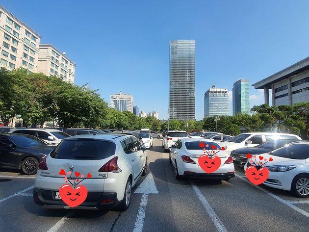 김원효가 올린 이중주차
