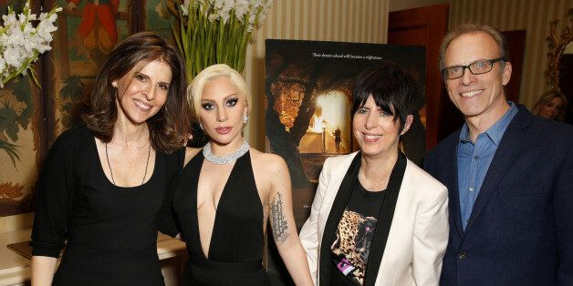 BEVERLY HILLS, CA - JANUARY 05:  Producer/director Amy Ziering, Lady Gaga, music producer/writer Diane Warren and director/wr