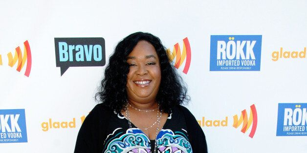 LOS ANGELES, CA - JULY 24:  Television show creator Shonda Rimes arrives at GLAAD Hancock Park: Top Chef Invasion hosted by L