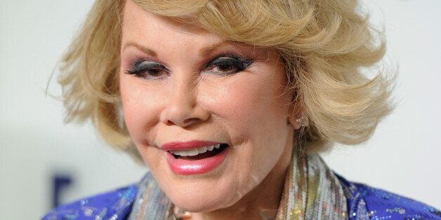 Joan Rivers attends the NBCUniversal Cable Entertainment 2014 Upfront at the Javits Center on Thursday, May 15, 2014, in New