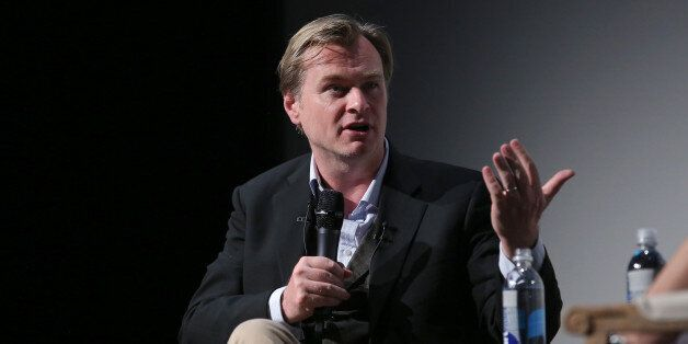 NEW YORK, NY - APRIL 20: Christopher Nolan speaks onstage at Tribeca Talks: Director Series: Christopher Nolan With Bennett Miller during the 2015 Tribeca Film Festival at BMCC Tribeca PAC on April 20, 2015 in New York City. (Photo by Jemal Countess/Getty Images for the 2015 Tribeca Film Festival)