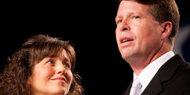 WASHINGTON - SEPTEMBER 17: Michelle (L) and Jim Bob Duggar of The Learning Channel TV show '19 Kids and Counting' speak at the Values Voter Summit on September 17, 2010 in Washington, DC. The annual summit drew nearly two thousand people to advocate for conservative causes. (Photo by Brendan Hoffman/Getty Images)