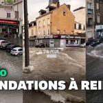 Reims sous l'eau après un violent orage, une personne recherchée à
