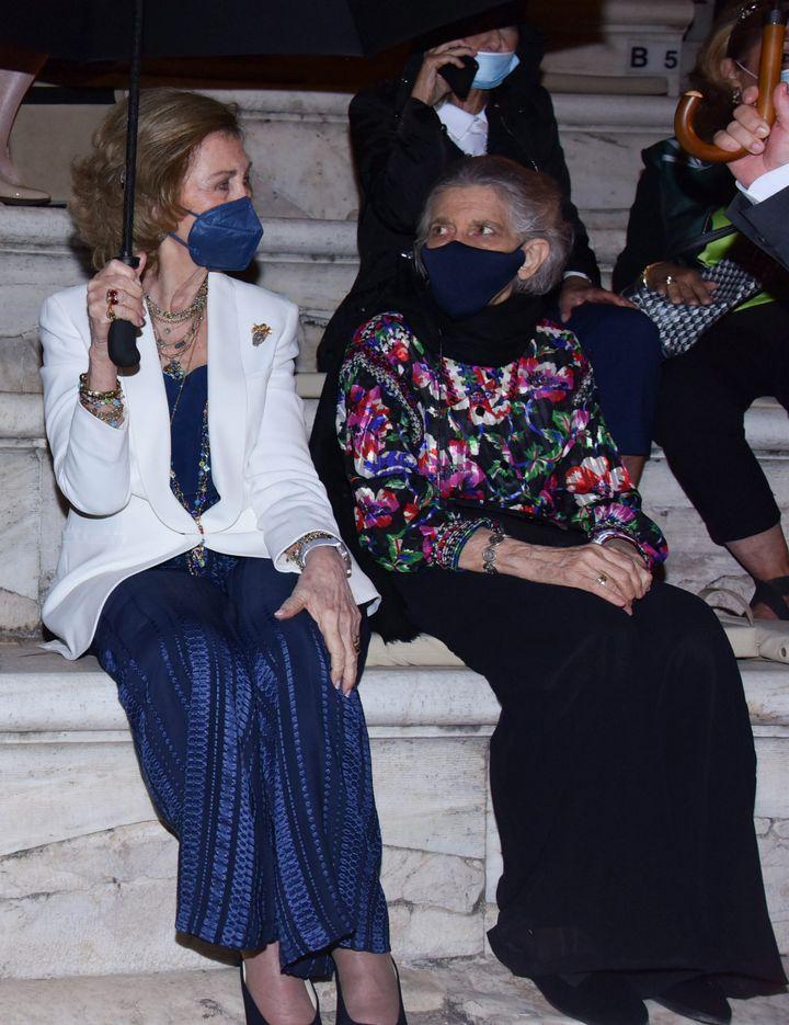 Con Irene de Grecia, en un concierto para celebrar el cumpleaños de su hermano Constantino