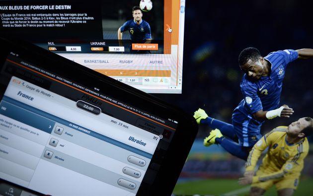(Photo prétexte: photo de pages d'accueil de sites de paris sportifs en ligne et pronostics prise...