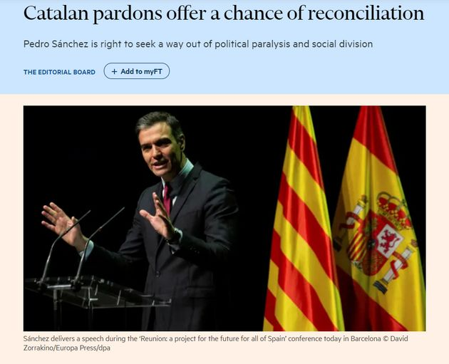 Editorial del 'Financial Times' de este lunes, 21 de