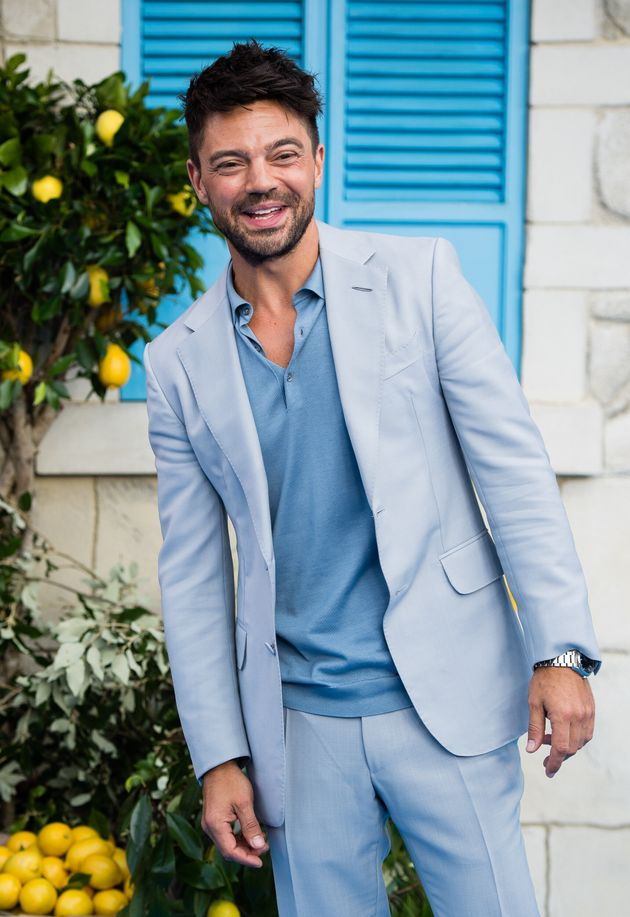 Dominic at the UK premiere of Mamma Mia! Here We Go